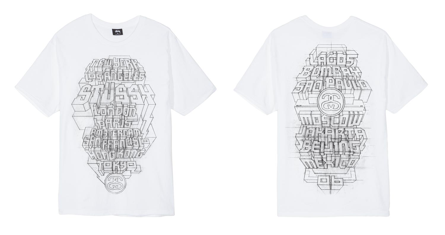 Stssy World Tour Stussy Official Website Usa Canada Kaos Snow Tee Delta