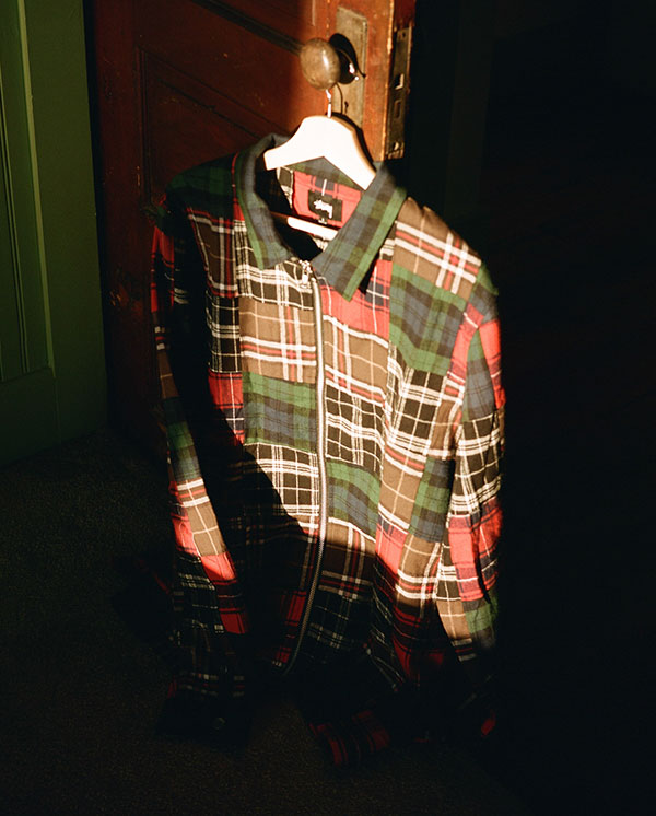 PATCHWORK ZIP UP L/SL SHIRT